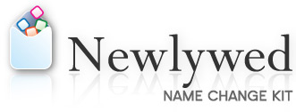 Newlywed Name Change Kit